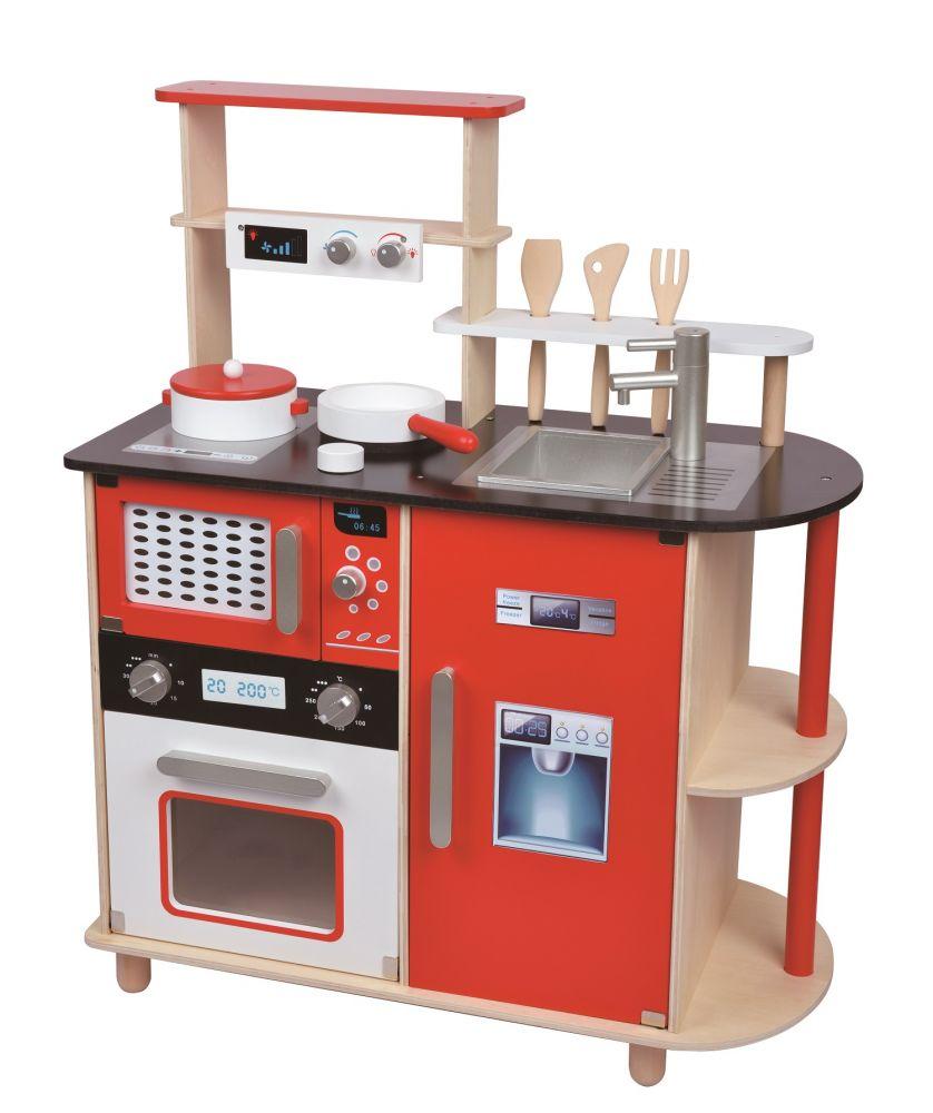 Ekskluzywna Drewniana Kuchnia Dla Dzieci Z Wyposażeniem Lelin